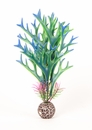 "Multi-colored, Blue/ Green Approx. 8"" Staghorn Plant Decor"