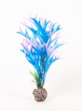 "Multi-colored, Blue/ Pink Approx. 8"" Staghorn Plant Decor"