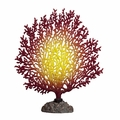 Silicone Coral Branch Decor - Burgundy/Yellow