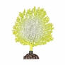 Silicone Coral Branch Decor - Yellow/White