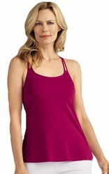 Amoena Back Ring Pocketed Camisole Top 43951, Raspberry