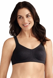 Amoena Mona European Seamless Pocketed Bra - Black 2591