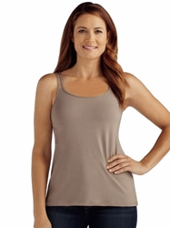 Amoena Valletta Pocketed Camisole with Built-In Bra 44078 - Taupe