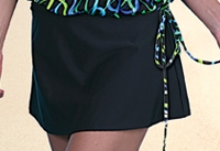 Jodee Black Swim Skirt, Misses (Style 2071)