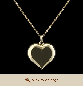 14K Gold Cremation Jewelry - Large Heart Pendant