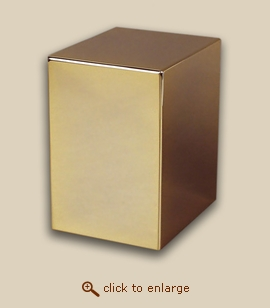 24 K Gold Plated Cube Cremation Urn - Golden Reflection