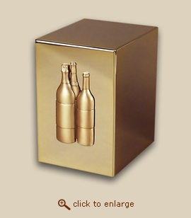 24 K Gold Plated Cube Cremation Urn - Napa