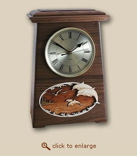 3D Wood Clock Cremation Urn Dolphins - Astoria