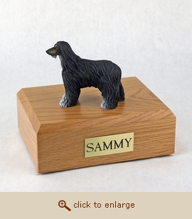 Afghan - Dog Figurine Wood Pet Urn