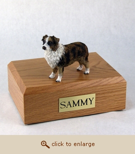 Australian Sheep - Dog Figurine Wood Pet Urn