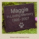 Black Granite Pet Memorial Marker - Small with Helvetica Font
