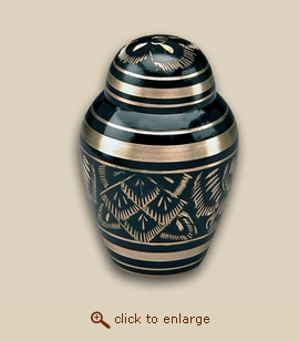 Black Radiance Cremation Urn - Keepsake