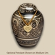 Black Radiance Pet Cremation Urn with Optional Pendant
