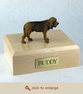 Bloodhound - Dog Figurine Wood Pet Urn
