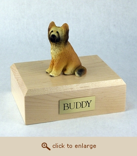 Briard - Dog Figurine Wood Pet Urn