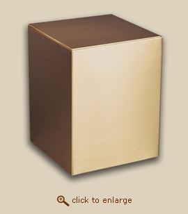 Bronze Cube Cremation Urn - Reflection