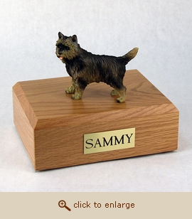 Cairn Terrier - Dog Figurine Wood Pet Urn