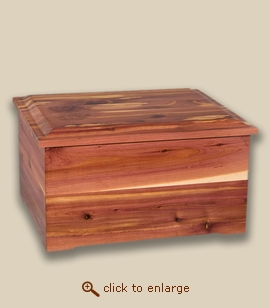Cedar Wood Companion Memorial Cremation Urn