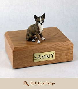 Chihuahua - Dog Figurine Wood Pet Urn