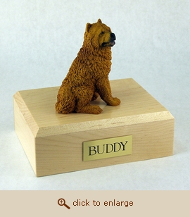 Chow Chow - Dog Figurine Wood Pet Urn