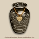 Classic Black Radiance Pet Cremation Urn with Optional Pendant