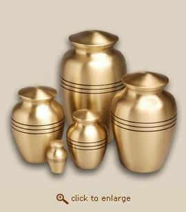 Classic Bronze Cremation Urn - Medium