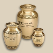 Classic Bronze Engraved Cremation Urns