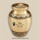 Classic Bronze Engraved Pet Cremation Urn Personalized