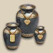 Classic Evening Blue Engraved Cremation Urns