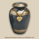 Classic Evening Blue Engraved Pet Cremation Urn with Optional Pendant