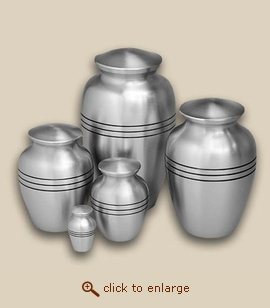 Classic Pewter Cremation Urn - Small