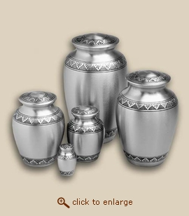 Classic Pewter Engraved Cremation Urn - Small