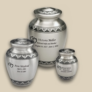 Classic Pewter Engraved Cremation Urns