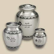 Classic Pewter Engraved Pet Urns