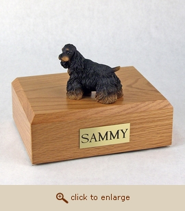 Cocker - Dog Figurine Wood Pet Urn