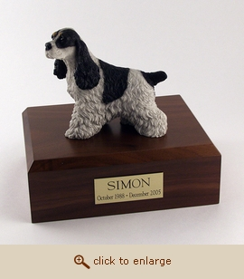 Cocker Spaniel - Dog Figurine Wood Pet Urn