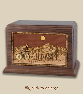 Companion - 3D Inlay Bicycle Wood Art Cremation Urn