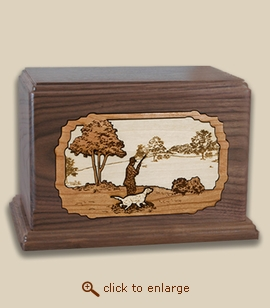 Companion - 3D Inlay Hunter Wood Art Cremation Urn