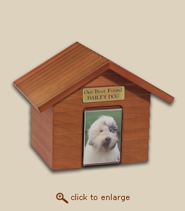 Cottage Style Dog House Urn - Cherry