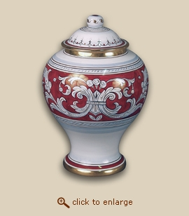 D'Oro Hand Painted Porcelain Cremation Urn