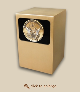 Dignity Panel Bronze Cremation Urn - Great Seal Medallion