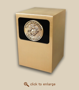 Dignity Panel Bronze Cremation Urn - Marine Medallion