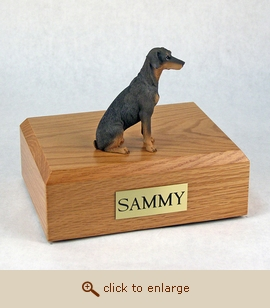 Doberman - Dog Figurine Wood Pet Urn