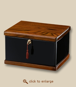 Ebony and Walnut Memorial Chest Cremation Urn