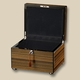 Ebony Striped Wooden Chest Xlarge Cremation Urn
