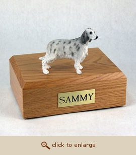 English Setter - Dog Figurine Wood Pet Urn