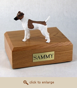 Fox Terrier - Dog Figurine Wood Pet Urn