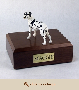 Great Dane - Dog Figurine Wood Pet Urn