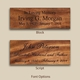 Handcrafted Bamboo Cremation Urn Font Types
