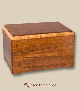 Handcrafted Bamboo Cremation Urn